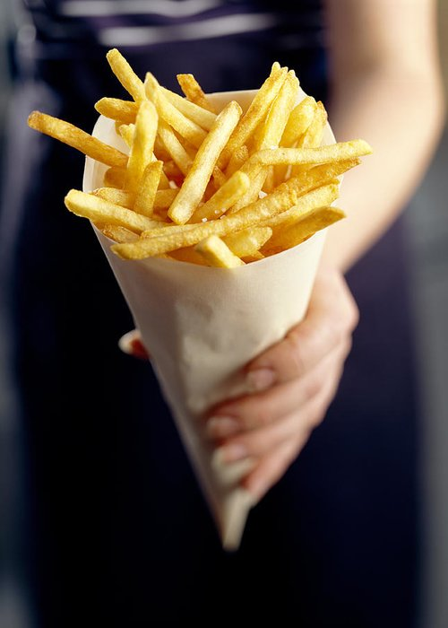 Processed Greeting Card featuring the photograph French Fries by David Munns