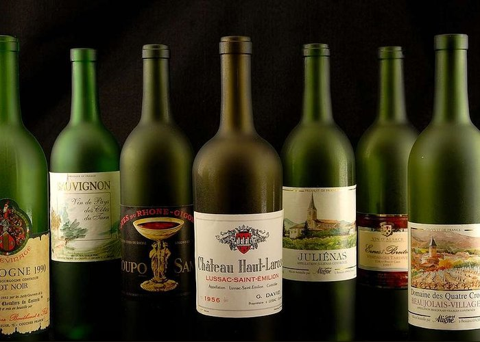 Labels Greeting Card featuring the photograph French Wine Labels by David Campione