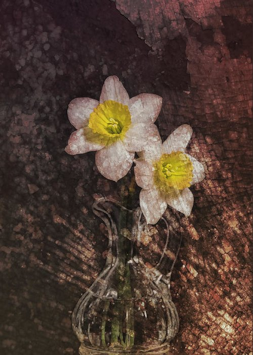 Flower Greeting Card featuring the digital art Fresh Cut by Peter Chilelli