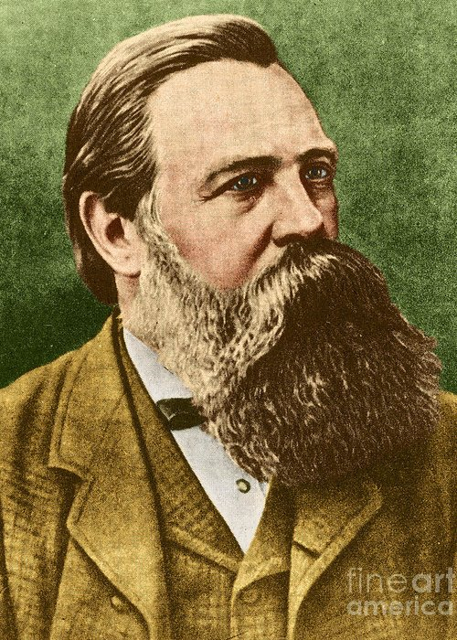 Friedrich Engels Greeting Card featuring the photograph Friedrich Engels, Father Of Communism by Photo Researchers