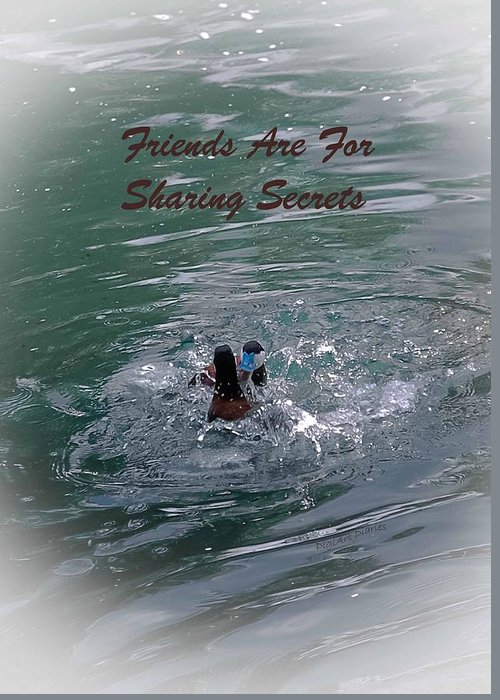Greeting Card Greeting Card featuring the photograph Friends Are For Sharing Secrets by DigiArt Diaries by Vicky B Fuller