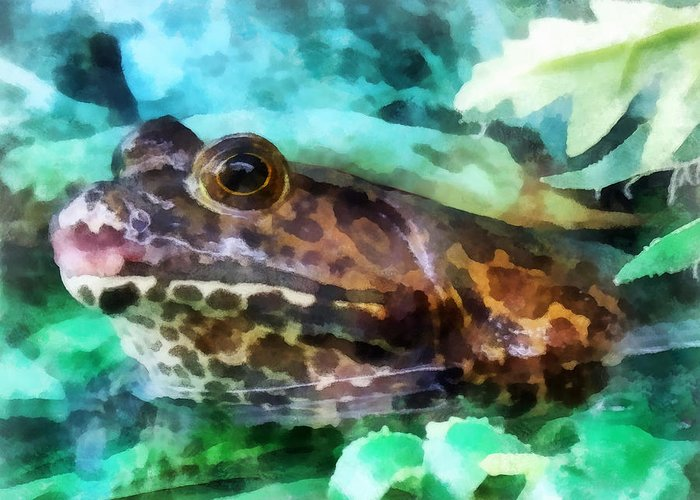 Frog Greeting Card featuring the photograph Frog Ready To Be Kissed by Susan Savad