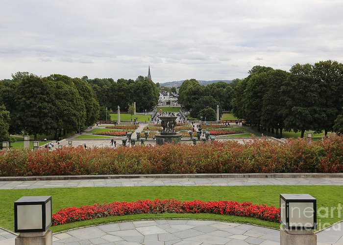 Oslo Greeting Card featuring the photograph Frogner Park by Carol Groenen