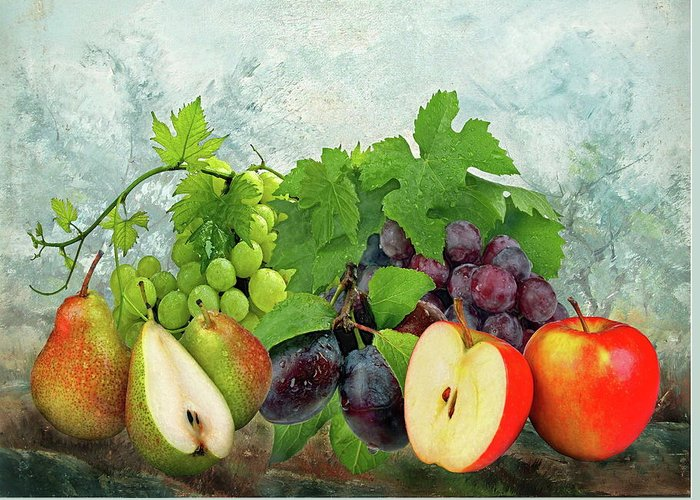 Fruit Greeting Card featuring the photograph Fruit Garden by Manfred Lutzius