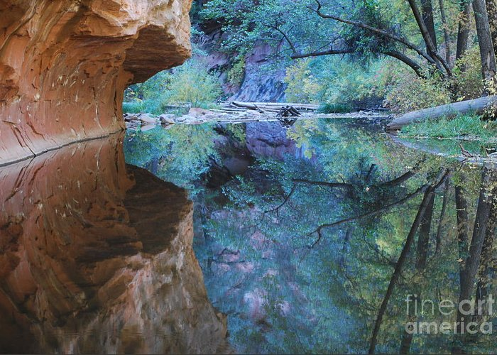 Sedona Greeting Card featuring the photograph Fully Reflected by Heather Kirk
