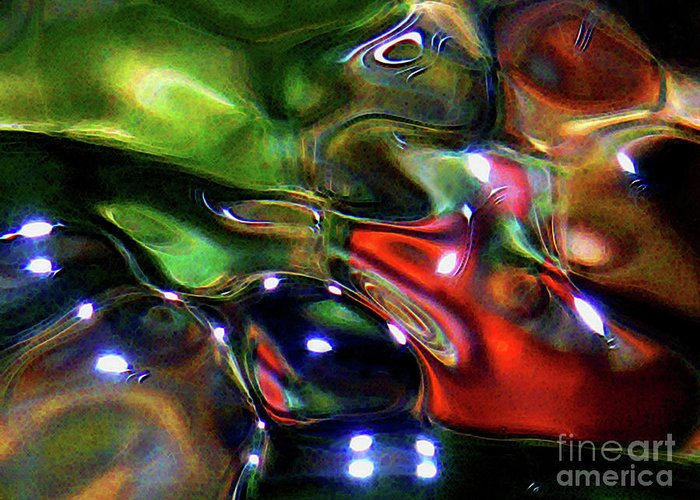 Abstract Greeting Card featuring the photograph Funshway Light 2 by Terril Heilman