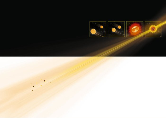 Gamma Ray Burst Greeting Card featuring the photograph Gamma Ray Burst Formation by Claus Lunau