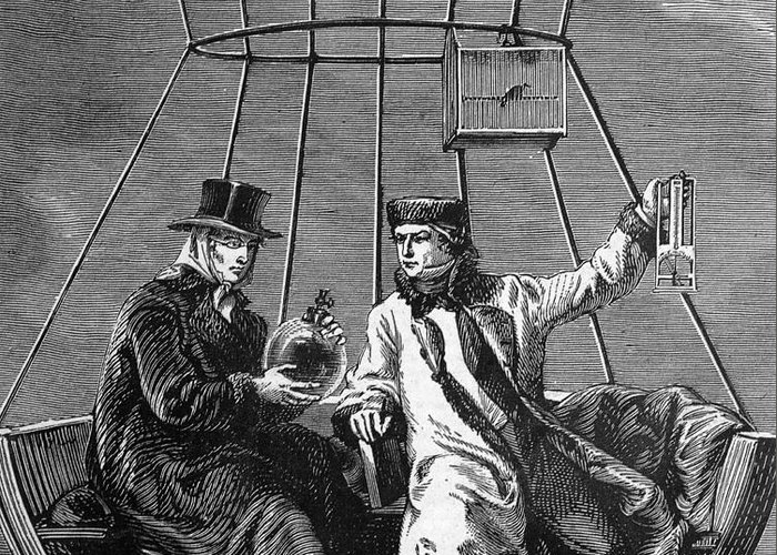 Science Greeting Card featuring the photograph Gay-lussac And Jean-baptiste Biot, 1804 by Science Source
