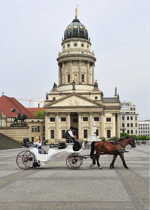 Berlin Greeting Card featuring the photograph Gendarmenmarkt Berlin Germany by Matthias Hauser