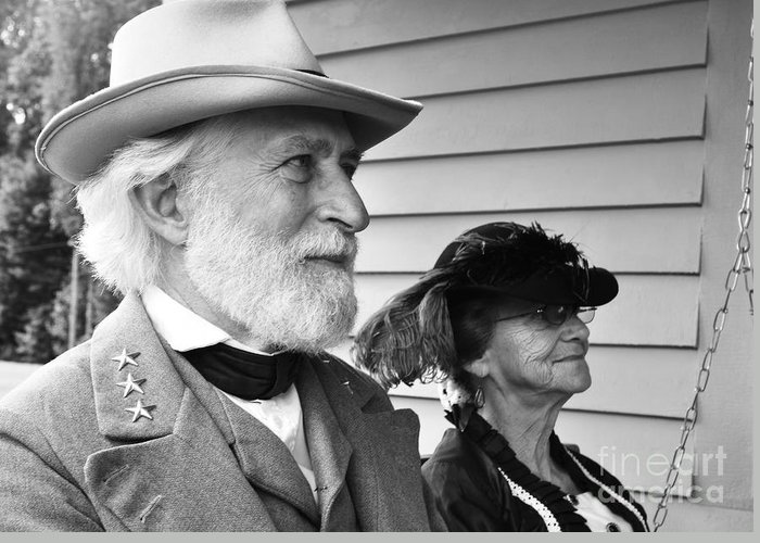 General Robert E. Lee Greeting Card featuring the photograph General Lee And Mary Custis Lee by Thomas R Fletcher