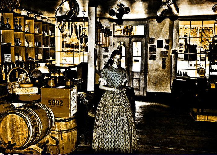 General Store Harpers Ferry Greeting Card featuring the photograph General Store Harpers Ferry by Bill Cannon