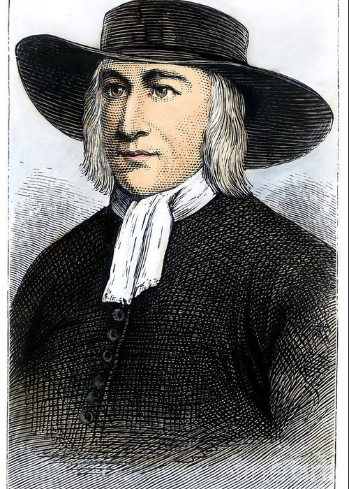 English Greeting Card featuring the photograph George Fox (1624-1691) by Granger