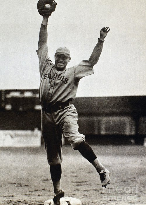 1920s Greeting Card featuring the photograph George Sisler (1893-1973) by Granger