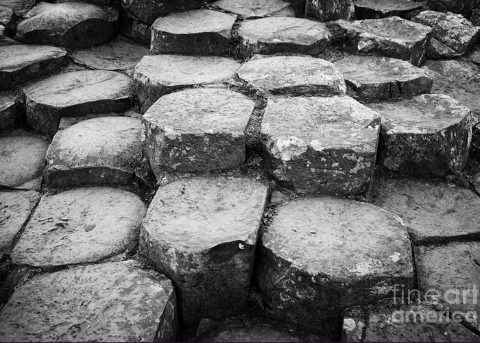 Northern Ireland Greeting Card featuring the photograph Giants Causeway Stones Northern Ireland by Joe Fox