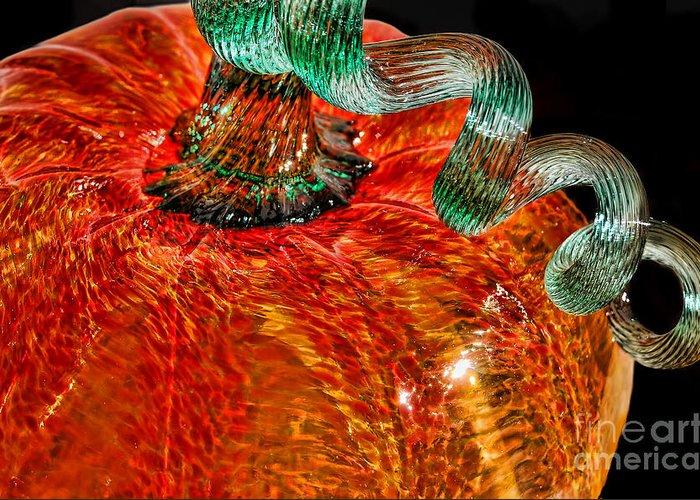 Autumn Greeting Card featuring the photograph Glass Pumpkin  by Alexandra Jordankova