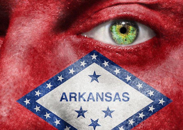 Arkansan Greeting Card featuring the photograph Go Arkansas by Semmick Photo