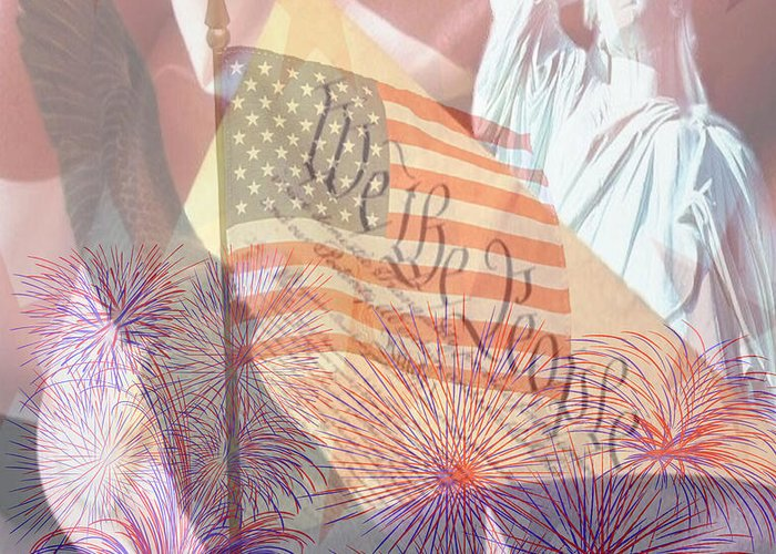 Usa Images Greeting Card featuring the photograph God Bless The Usa by Cheryl Young