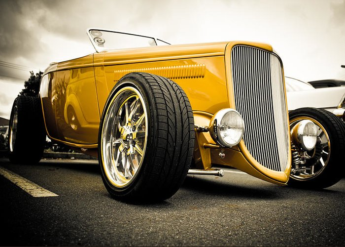 Hot Rod Greeting Card featuring the photograph Golden Rod by Phil 'motography' Clark