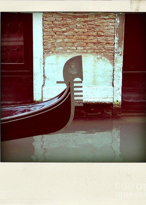 Gondola Italie Venise Italia Venice Europe Tourism Holidays Travel European Italian Touristes Tourist Town Serenisim Destination City Gondola Gondolier Canal Water Venezia Venice Greeting Card featuring the photograph Gondola.venice.italy by Bernard Jaubert