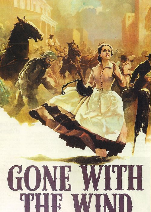 Gone With The Wind Greeting Card featuring the photograph Gone With The Wind by Georgia Fowler