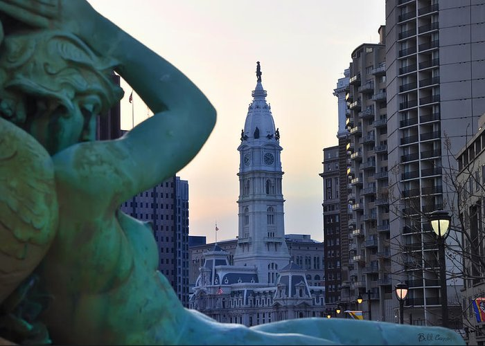 Good Morning Philadelphia Greeting Card featuring the photograph Good Morning Philadelphia by Bill Cannon