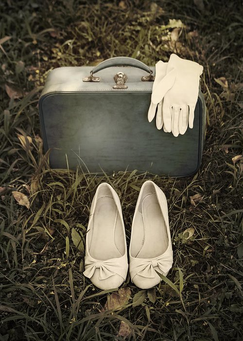 Leather Bag Greeting Card featuring the photograph Goodbye by Joana Kruse
