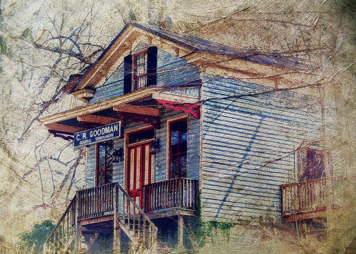 General Store Greeting Card featuring the photograph Goodman General Merchandise by Kathy Jennings
