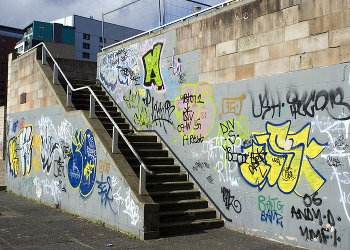 Graffiti Greeting Card featuring the photograph Graffiti by Mark Williamson