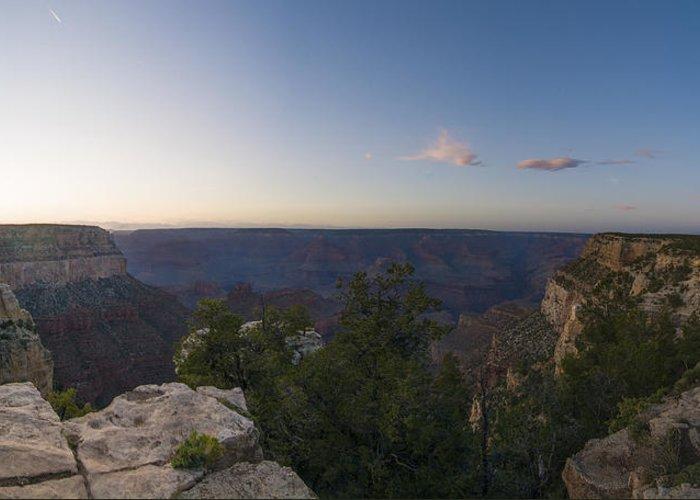 Panorama Of The Grand Canyon Greeting Card featuring the photograph Grand Canyon Arizona by Patrick Warneka