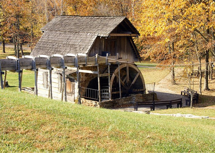 Photographs Greeting Card featuring the photograph Grist Mill 2 by Franklin Conour
