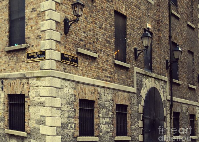 Dublin Greeting Card featuring the pyrography Guinness Storehouse Dublin by Louise Fahy