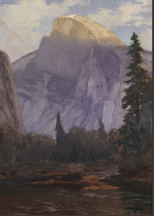 C19th Greeting Card featuring the painting Half Dome by Christian Jorgensen