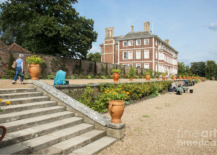 Ham House Greeting Card featuring the photograph Ham House - Gardens by Donald Davis