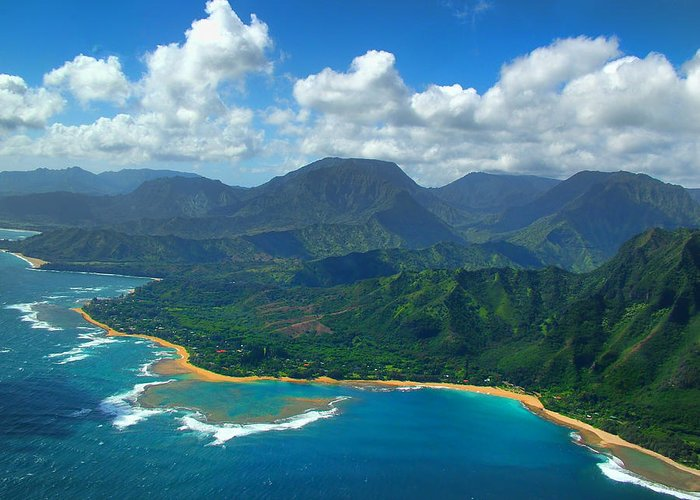 Hanalei Bay Greeting Card featuring the photograph Hanalei Bay 2 by Ken Smith