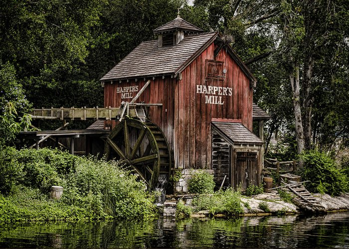 Mill Greeting Card featuring the photograph Harpers Mill by Heather Applegate