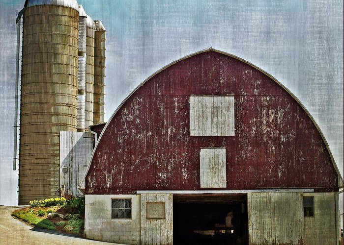 Barn Greeting Card featuring the photograph Harvest Barn by Kathy Jennings