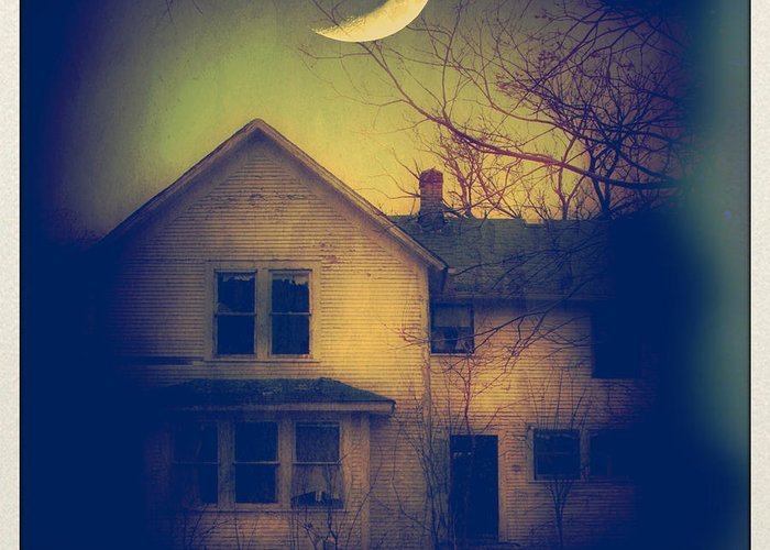 House Greeting Card featuring the photograph Haunted House by Jill Battaglia