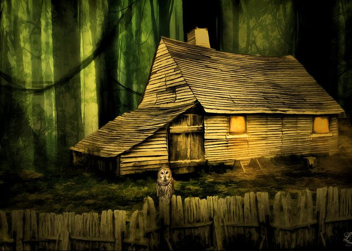 Haunted Barn Greeting Card featuring the photograph Haunted Shack by Lourry Legarde