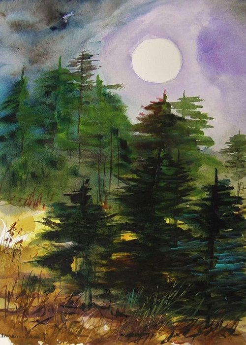 Haze Moving In Greeting Card featuring the painting Haze Moving In by John Williams