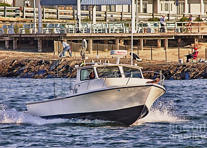 Hdr Greeting Card featuring the photograph Hdr Boat Boats Sea Ocean Fishing Jetty Boadwalk Photos Pictures Photography Scenic Landscape Pics by Pictures HDR