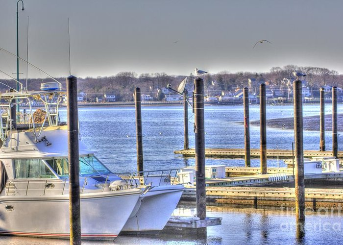 Boat Greeting Card featuring the photograph Hdr Boat Waiting Wanting Yet Tied by Pictures HDR