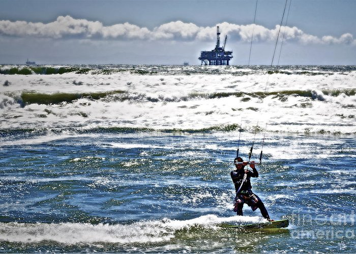 Ocean Greeting Card featuring the photograph Heading Back Out by Gwyn Newcombe