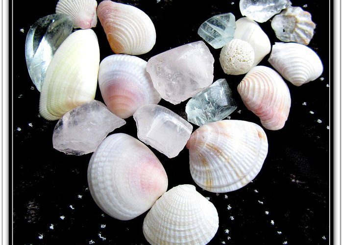 Beach Glass Art Prints Greeting Card featuring the photograph Heart Of Treasures by Danielle Parent