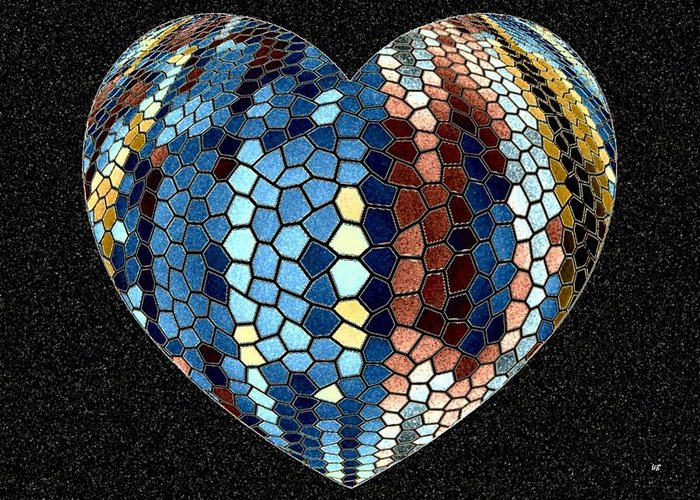 Heart Greeting Card featuring the digital art Heartline 4 by Will Borden