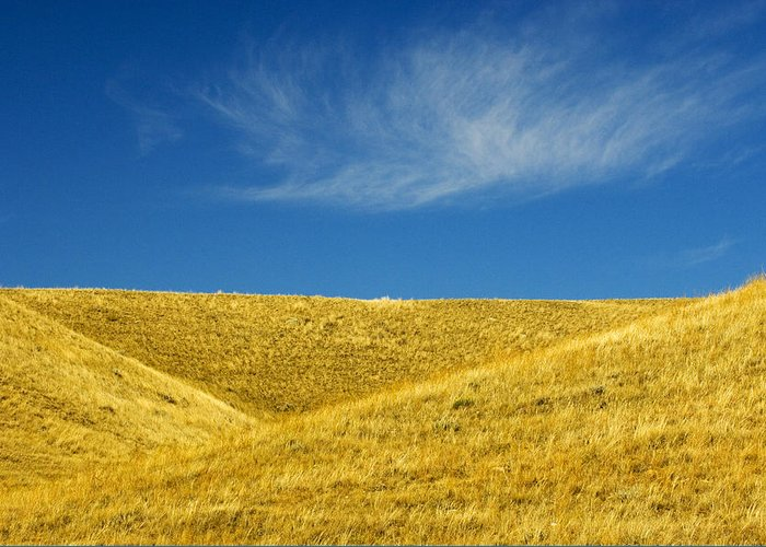 Agriculture Greeting Card featuring the photograph Hills And Clouds, Cypress Hills by Mike Grandmailson