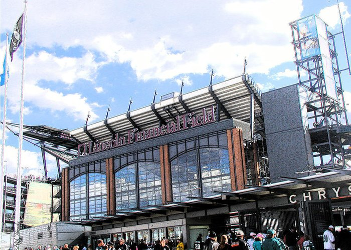 Eagles Greeting Card featuring the mixed media Home Of The Eagles by Rick Thiemke