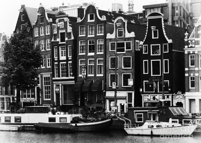 Amsterdam Greeting Card featuring the photograph Homes Of Amsterdam by Leslie Leda