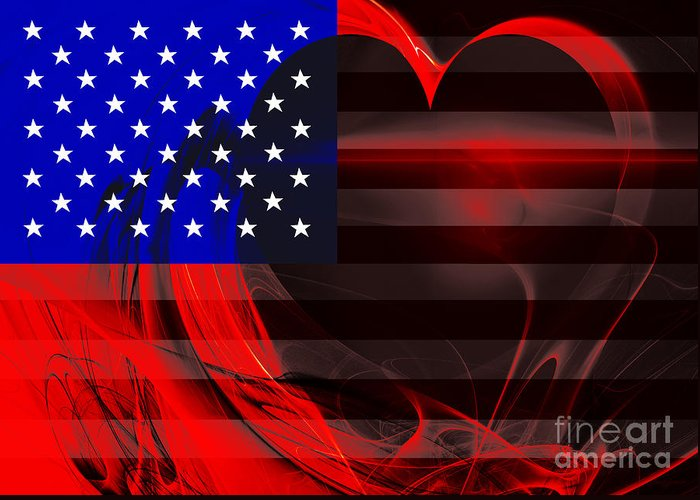 Usa Greeting Card featuring the photograph I Love America by Wingsdomain Art and Photography