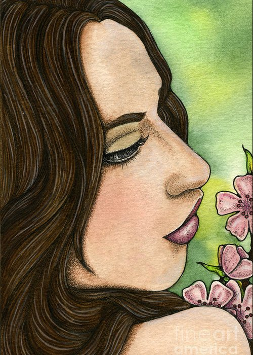I Greeting Card featuring the painting I Remember by Nora Blansett