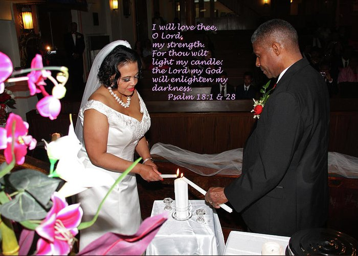 Wedding Greeting Card featuring the photograph I Will Love Thee by Terry Wallace